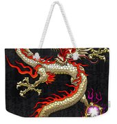 Golden Chinese Dragon Fucanglong  Weekender Tote Bag