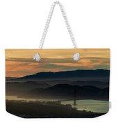 Golden Gate Bridge And San Francisco Bay At Sunset Weekender Tote Bag