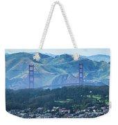 Golden Gate Bridge View From Twin Peaks San Francisco Weekender Tote Bag