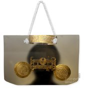 Golden Pre-columbian Figure Weekender Tote Bag