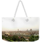 Golden Sunset Of Florence, Italy. Weekender Tote Bag