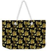 Golden Tropics Pattern Weekender Tote Bag