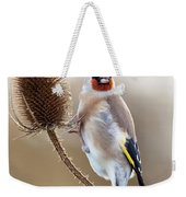 Goldfinch On Teasle Weekender Tote Bag