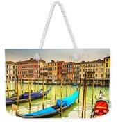 Gondolas In Venice - Italy  Weekender Tote Bag