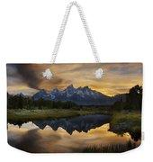 Grand Teton Sunset Reflections Weekender Tote Bag