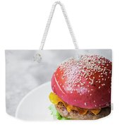 Gourmet Novelty Chicken Burger In Beetroot Bun Weekender Tote Bag