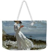Grace Reading At Howth Bay Weekender Tote Bag by Sir William Orpen
