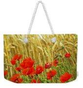 Grain And Poppy Field Weekender Tote Bag