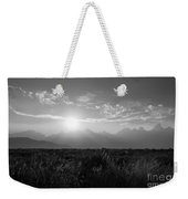 Grand Teton Hazy Sunset  Weekender Tote Bag