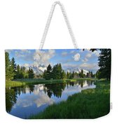Grand Teton Reflection Weekender Tote Bag