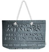 Gravestone In Loving Memory Weekender Tote Bag