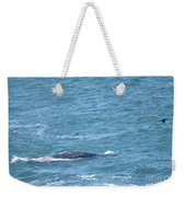 Gray Whale Weekender Tote Bag