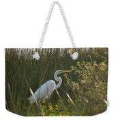 Great Egret At Coba Village Weekender Tote Bag