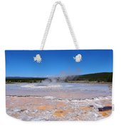 Great Fountain Geyser In Yellowstone National Park Weekender Tote Bag