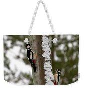 Great Spotted Woodpeckers Weekender Tote Bag
