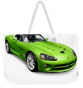 Green 2008 Dodge Viper Srt10 Roadster Weekender Tote Bag