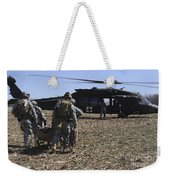 Green Berets Move A Simulated Casualty Weekender Tote Bag