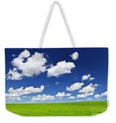Green Rolling Hills Under Blue Sky Weekender Tote Bag