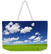 Green Rolling Hills Under Blue Sky Weekender Tote Bag by Elena Elisseeva