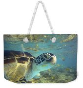 Green Sea Turtle Balicasag Island Weekender Tote Bag