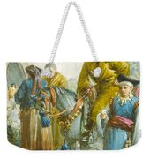 Group Near The Great Wall Of China Weekender Tote Bag