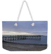 Gulf Beach Pier Weekender Tote Bag
