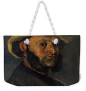 Gustave Boyer B 1840 In A Straw Hat Weekender Tote Bag