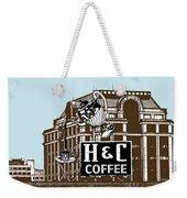 H And C Coffee Sign Roanoke Virginia Weekender Tote Bag
