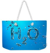 H2o Formula Made By Oxygen Bubbles In Water Weekender Tote Bag