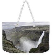 Haifoss Waterfall Iceland 1340 Weekender Tote Bag