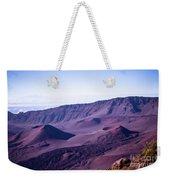 Haleakala Sunrise On The Summit Maui Hawaii - Kalahaku Overlook Weekender Tote Bag by Sharon Mau
