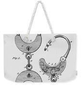 Hand Cuff Patent 1880 Weekender Tote Bag