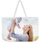 Happy Mother With Baby Weekender Tote Bag