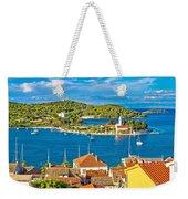 Harbor Of Vis Island Panorama Weekender Tote Bag