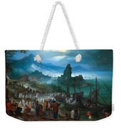 Harbour Scene With Christ Preaching Weekender Tote Bag