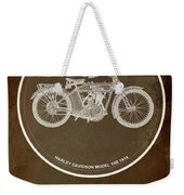 Harley Davidson Model 10b 1914 For Some There's Therapy, For The Rest Of Us There's Motorcycles Weekender Tote Bag