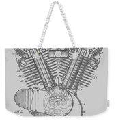 Harley Engine Patent From 1919 Weekender Tote Bag