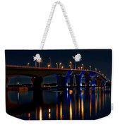 Hathaway Bridge At Night Weekender Tote Bag