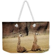 Having A Giraffe Weekender Tote Bag