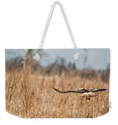 Hawk Soaring Over Field Weekender Tote Bag