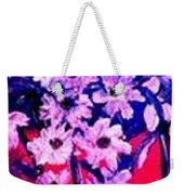 Sunset With Flowers Weekender Tote Bag