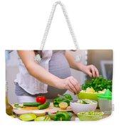 Healthy Pregnancy Concept Weekender Tote Bag