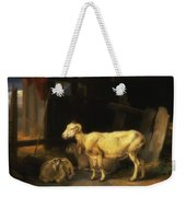 Heath Ewe And Lambs Weekender Tote Bag
