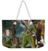 Henry Frederick Prince Of Wales With Sir John Harington In The Hunting Field Weekender Tote Bag