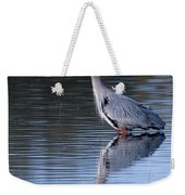 Heron Reflection Weekender Tote Bag