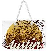 Congress Avenue Bridge Bats Take Flight In Austin Texas Weekender Tote Bag