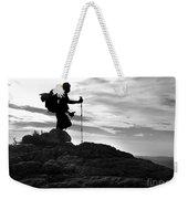 Hiker Silhouette Weekender Tote Bag