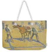 His First Lesson Weekender Tote Bag