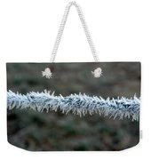 Hoar Frost At Sun Up Weekender Tote Bag