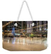 Holiday Scenes In Uptown Charlotte North Carolina Weekender Tote Bag